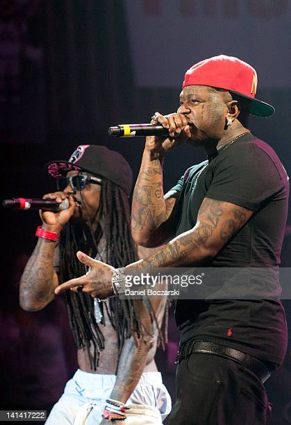 Lil Wayne and Birdman perform at Austin Music Hall on March 15 2012 in Austin Texas
