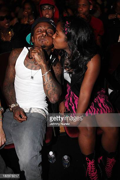 Lil Wayne and daughter Reginae Carter attend the 2011 BET Awards at The Shrine Auditorium on June 26 2011 in Los Angeles California
