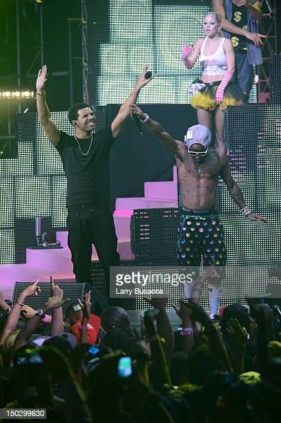 Lil Wayne and Drake perform at Pepsi Presents Nicki Minaj's Pink Friday Tour at Roseland on August 14 2012 in New York City