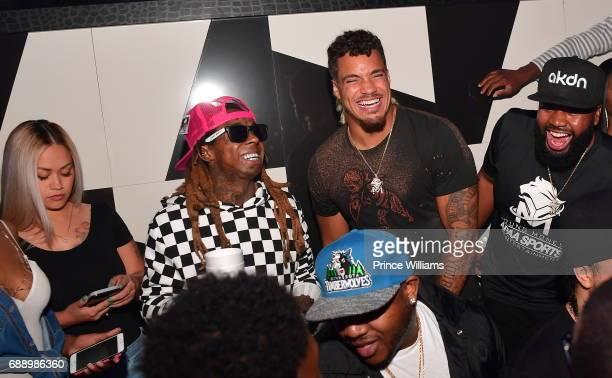 Lil Wayne and Duke Riley attend Duke Rileys Signing Party at Gold Room on May 27 2017 in Atlanta Georgia