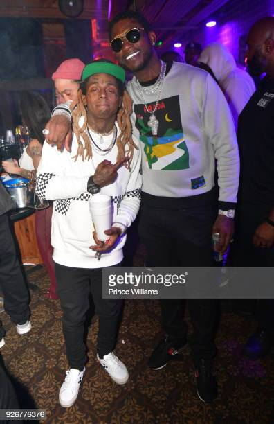 Lil Wayne and Gucci Mane attend Tournament weekend Celebration at The Oak Room on March 3 2018 in Charlotte North Carolina