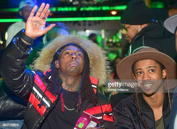 Lil Wayne and Lil Twist attend at Label on February 27 2015 in Charlotte North Carolina