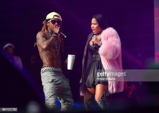 Lil Wayne and Nicki Minaj perform at Birthday Bash ATL The Pop Up Edition Concert at Philips Arena on June 17 2017 in Atlanta Georgia