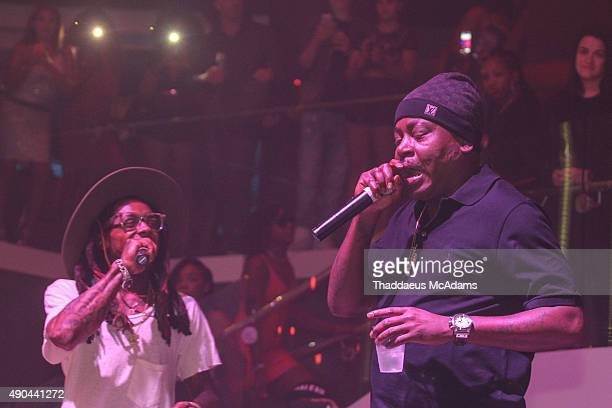 Lil Wayne and Trick Daddy Celebrate their Birthday with a performance at LIV nightclub at Fontainebleau Miami on September 27 2015 in Miami Beach...