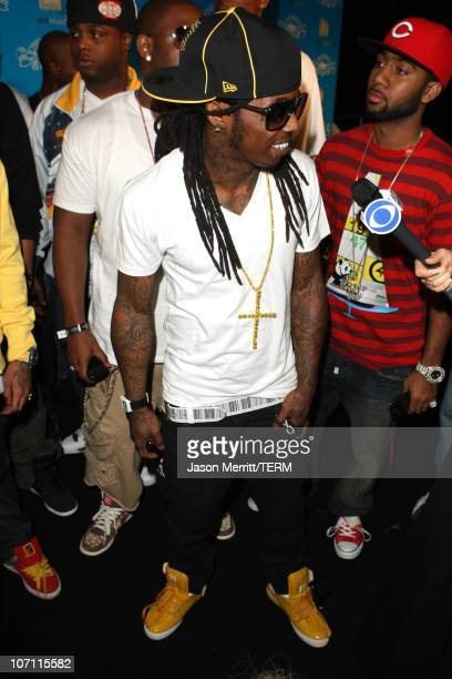 Lil Wayne arrives at the House of Hype PreAwards Party in Los Angeles on September 6 2008