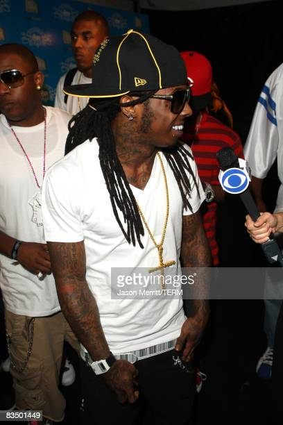 Lil Wayne arrives to the House of Hype Party in Los Angeles on September 6 2008