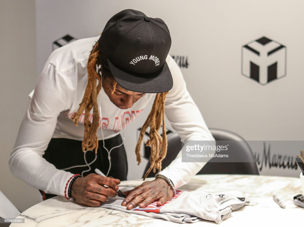 Lil Wayne at The Young Money Merch capsule celebration at Neiman Marcus Bal Harbour on March 16, 2018 in Bal Harbour, Florida.