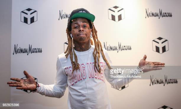 Lil Wayne at The Young Money Merch capsule launch at Neiman Marcus Bal Harbour on March 16 2018 in Bal Harbour Florida