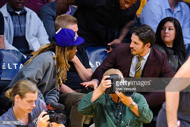 Lil Wayne attends a basketball game between the Brooklyn Nets and the Los Angeles Lakers at Staples Center on November 15 2016 in Los Angeles...