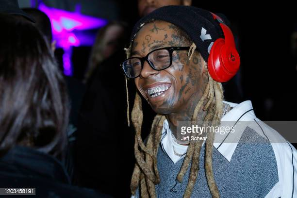 Lil Wayne attends Lil Wayne's Funeral album release party on February 01 2020 in Miami Florida[