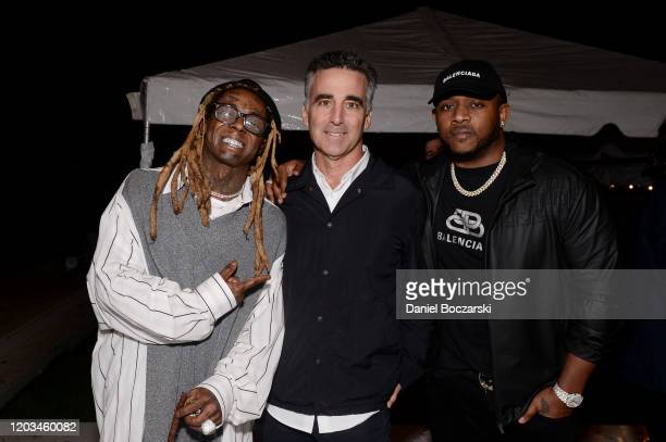 Lil Wayne Avery Lipman Mack Maine attend Lil Wayne's Funeral album release party on February 01 2020 in Miami Florida