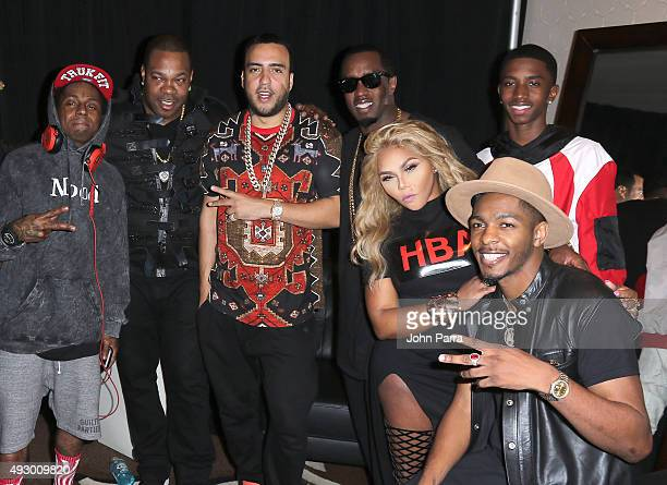 Lil Wayne Busta Rhymes French Montana Puff Daddy Lil' Kim Christian Combs and Los at Fontainebleau Miami Beach on October 16 2015 in Miami Beach...