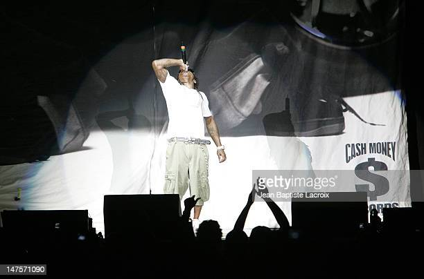 Lil Wayne during Chris Brown Juelz Santana NeYo Lil Wayne and Dem Franchize Boyz in Concert in Miami September 8 2006 at American Airlines Arena in...