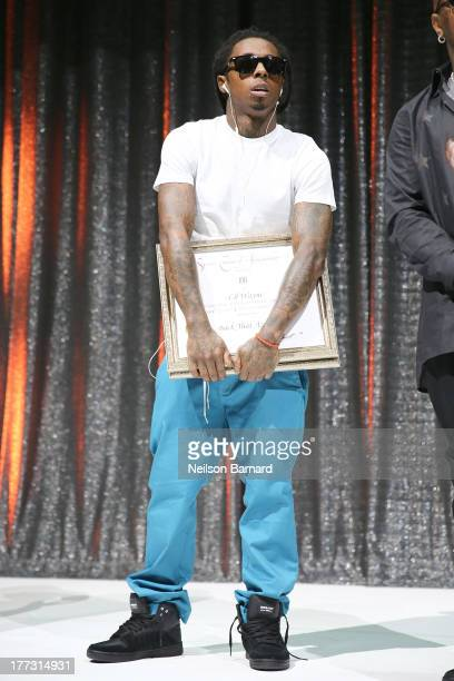 Lil Wayne onstage at the 2013 BMI RB/HipHop Awards at Hammerstein Ballroom on August 22 2013 in New York City