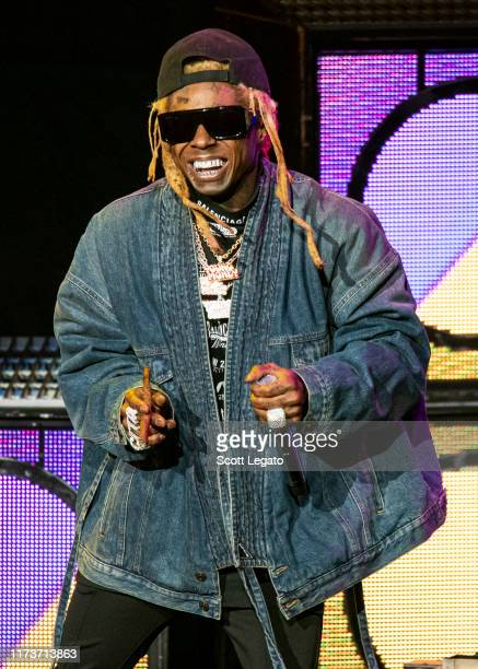 Lil Wayne performs at DTE Energy Music Theater on September 10, 2019 in Clarkston, Michigan.