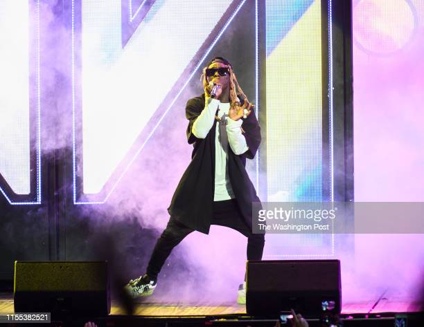 Lil Wayne performs at Jiffy Lube Live Thursday evening