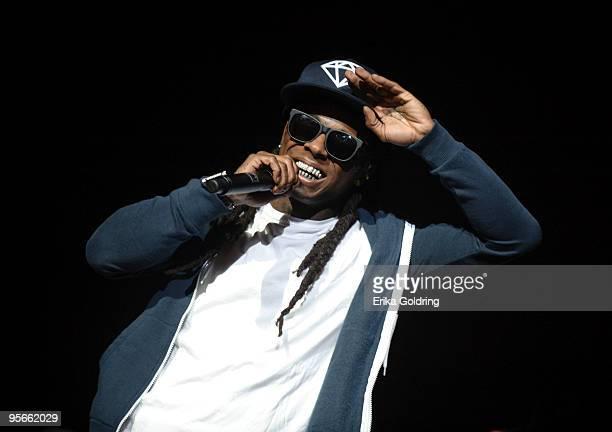 Lil Wayne performs at the Cajundome on January 8 2010 in Lafayette Louisiana