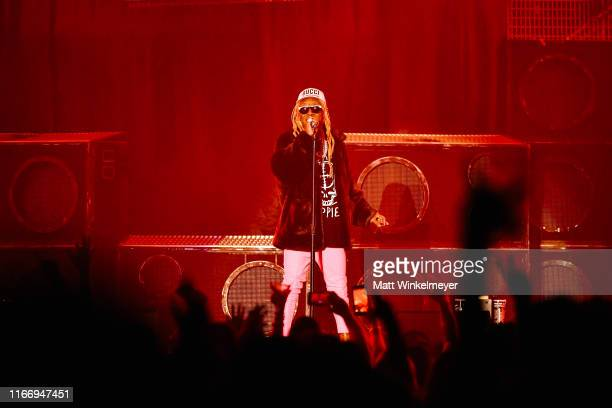 Lil Wayne performs at The Forum on August 08 2019 in Inglewood California