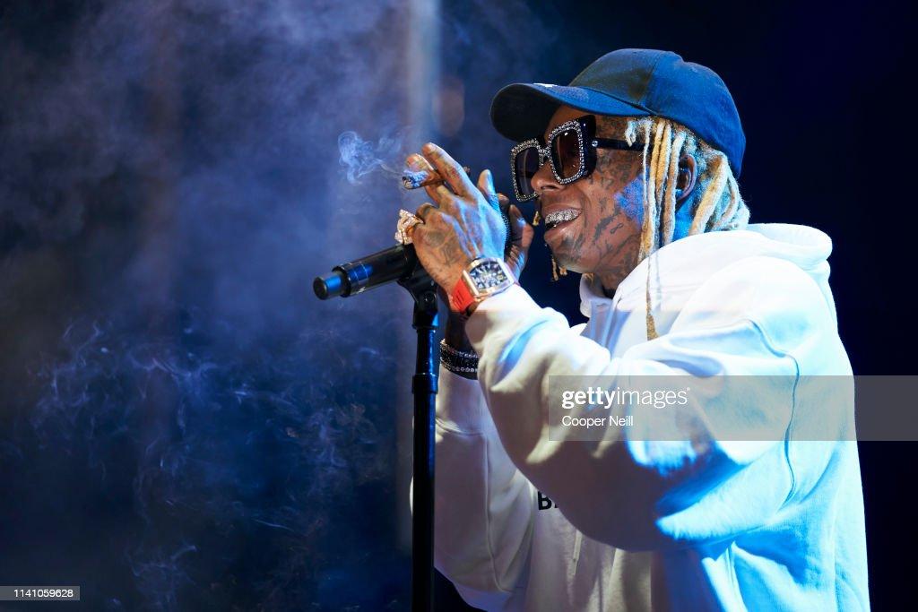 Lil Wayne performs during JMBLYA at Fair Park on May 3, 2019