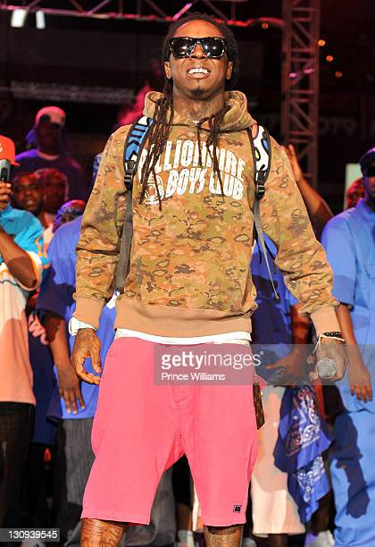 Lil Wayne performs during the 1079 Hip Hop Radio Station's Birthday Bash at Phillips Arena on June 18 2011 in Atlanta Georgia