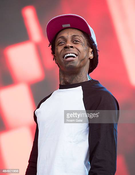 Lil Wayne performs during the 2015 Billboard Hot 100 Music Festival at Nikon at Jones Beach Theater on August 22 2015 in Wantagh New York