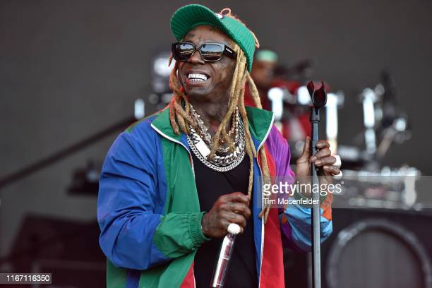 Lil Wayne performs during the 2019 Outside Lands music festival at Golden Gate Park on August 09 2019 in San Francisco California