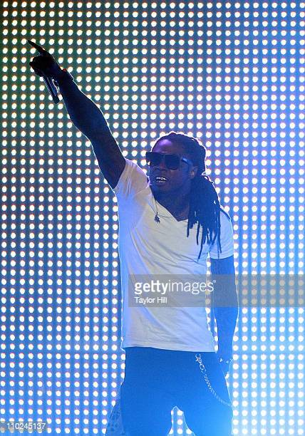 Lil Wayne performs during the I Am Still Music 2011 tour opener at the Dunkin' Donuts Center on March 16, 2011 in Providence, Rhode Island.
