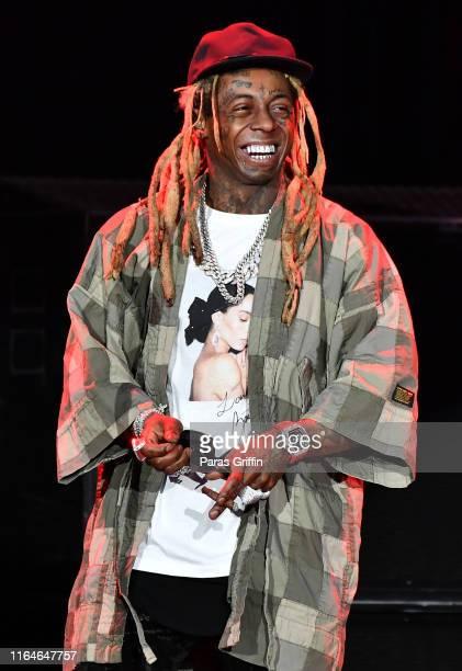 Lil Wayne performs in concert at Cellairis Amphitheatre at Lakewood on July 27, 2019 in Atlanta, Georgia.