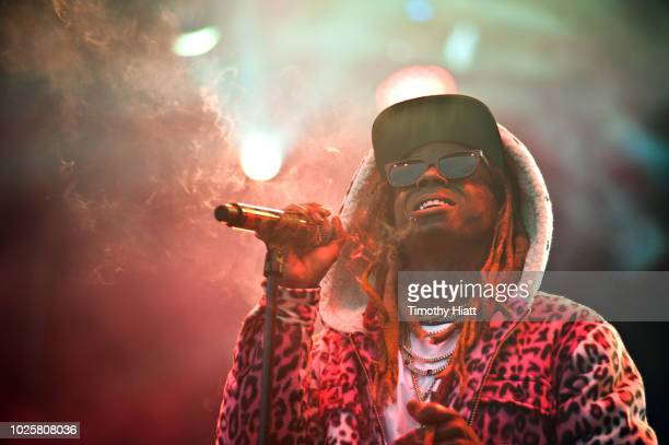 Lil Wayne performs on day one of the 2018 Bumbershoot Festival at Seattle Center on August 31 2018 in Seattle Washington
