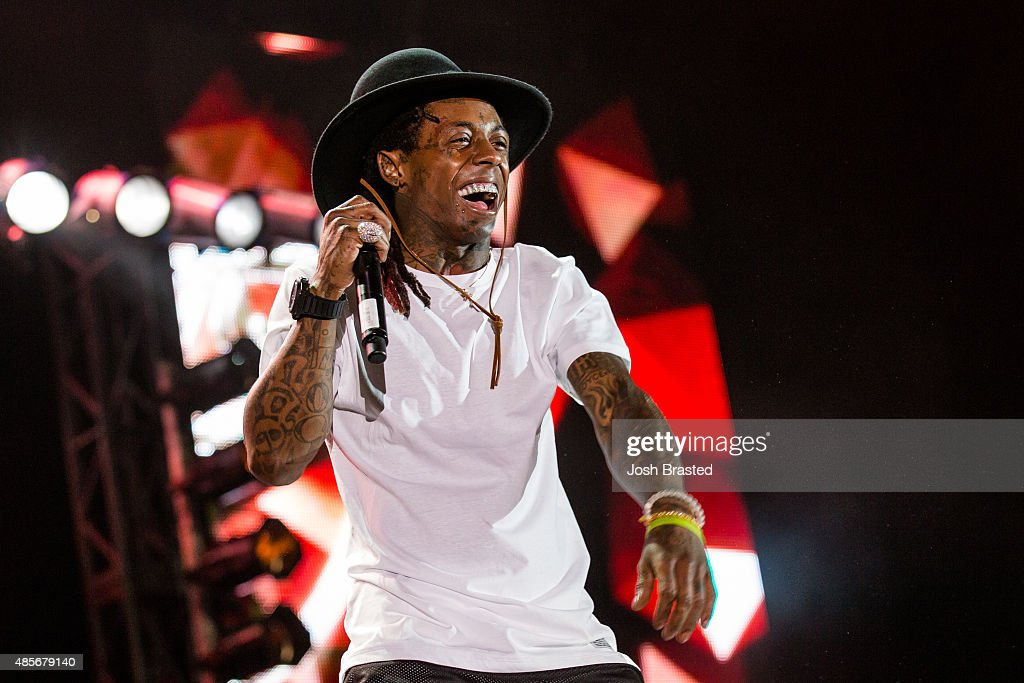 Lil Wayne performs on stage at Lil WeezyAna Fest at Champions Square on August 28, 2015 in New Orleans, Louisiana.