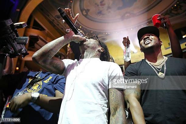 Lil Wayne performs onstage at the 2013 BMI RB/HipHop Award at Hammerstein Ballroom on August 22 2013 in New York City