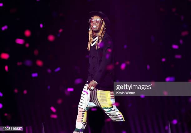 Lil Wayne performs onstage during the EA Sports Bowl at Bud Light Super Bowl Music Fest on January 30, 2020 in Miami, Florida.