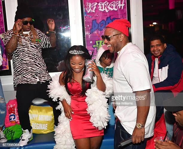 Lil Wayne Reginae Carter and Mack Mane attend Reginae Carters Birthday Party at Suite Lounge on December 2 2016 in Atlanta Georgia