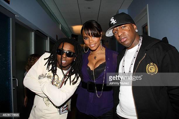 Lil WayneLeToya and Birdman during Sucker Free on MTV with guests Letoya Baby Lil Wayne at MTV Studios in New York City New York United States