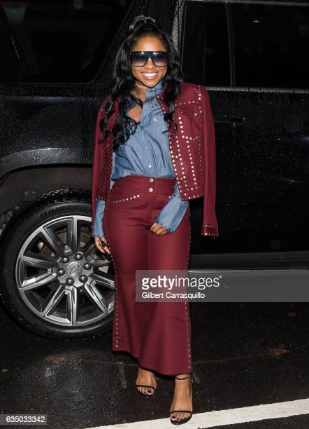 Lil Wayne's daughter Reginae Carter is seen leaving the Vivienne Hu collection during New York Fashion Week The Shows at Gallery 2 Skylight Clarkson...