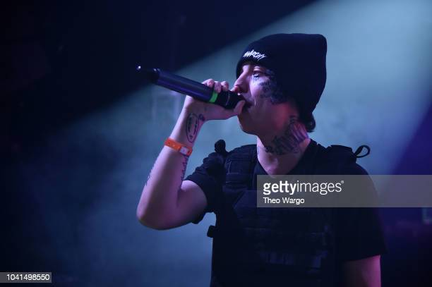 Lil Xan aka Diego performs at Irving Plaza on September 26 2018 in New York City