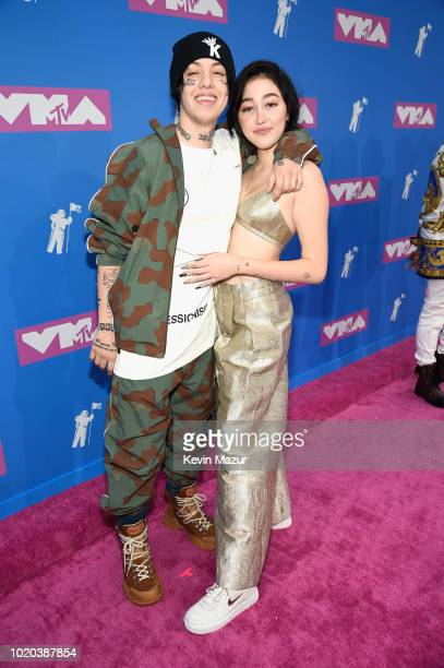 Lil Xan and Noah Cyrus attend the 2018 MTV Video Music Awards at Radio City Music Hall on August 20 2018 in New York City