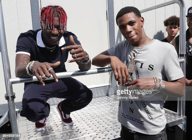 Lil Yachty and A Boogie wit da Hoodie backstage at the 2017 Hot 97 Summer Jam at MetLife Stadium on June 11 2017 in East Rutherford New Jersey