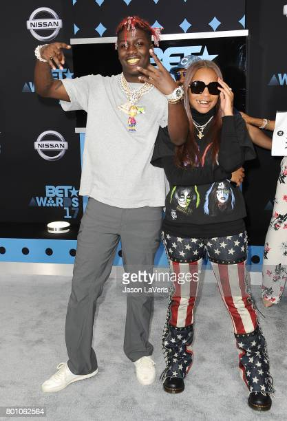 Lil Yachty and Kodie Shane attend the 2017 BET Awards at Microsoft Theater on June 25 2017 in Los Angeles California