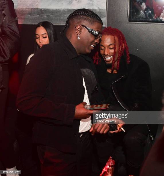 """Lil Yachty and Playboi Carti attend """"Whole Lotta Red"""" Listening Party at Traffik on December 24, 2020 in Atlanta, Georgia."""