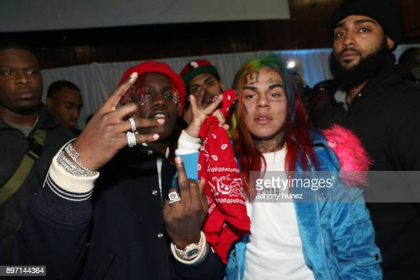 Lil Yachty and Tekashi69 attend The 2017 'Winter Wonderland' Holiday Charity Event hosted by La La Anthony at Gauchos Gym on December 21 2017 in New...