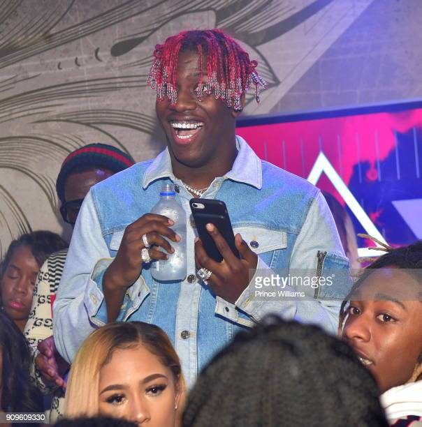 Lil Yachty attends the Grand Opening of Empire Lounge on January 22 2018 in Atlanta Georgia