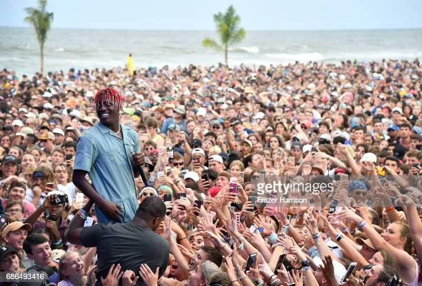 Lil Yachty crowd sufs at the Surf Stage during 2017 Hangout Music Festival on May 21 2017 in Gulf Shores Alabama
