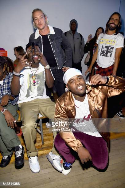 Lil Yachty Diplo and ASAP Ferg attend Helmut Lang Seen By Shayne Oliver fashion show during New York Fashion Week on September 11 2017 in New York...