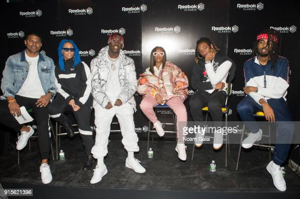 Lil Yachty Kodie Shane Jbans and Khalfani Dennis attend Reebok's 'Breaking Classic' at Classic Car Club on February 7 2018 in New York City