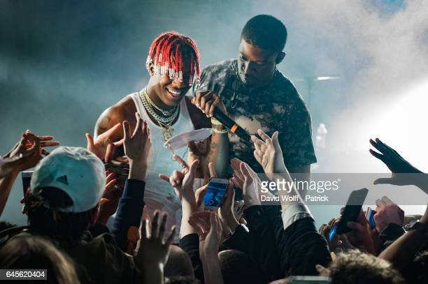 Lil Yachty performs at La Maroquinerie on February 26 2017 in Paris France