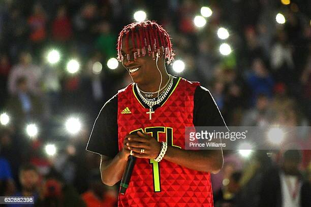 Lil Yachty Performs During The Washington Wizards VS Atlanta Hawks Game at Philips Arena on January 27 2017 in Atlanta Georgia