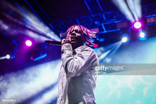 Lil Yachty performs on the Flog Stage during day 2 of Camp Flog Gnaw Carnival 2017 at Exposition Park on October 29 2017 in Los Angeles California