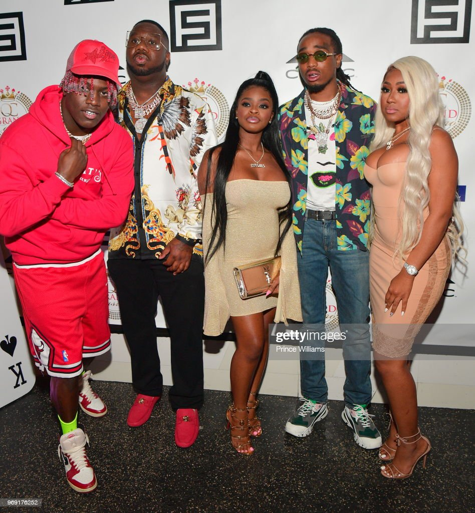 Lil Yachty, Pierre 'Pee' Thomas, City Girls and Quavo attend Pierre 'Pee' Thomas Birthday Celebration at Gold Room on June 7, 2018 in Atlanta, Georgia.