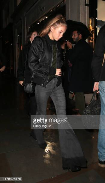 Lila Grace Moss Hack seen attending The Dior Sessions - book launch party at Dior Boutique on October 01, 2019 in London, England.